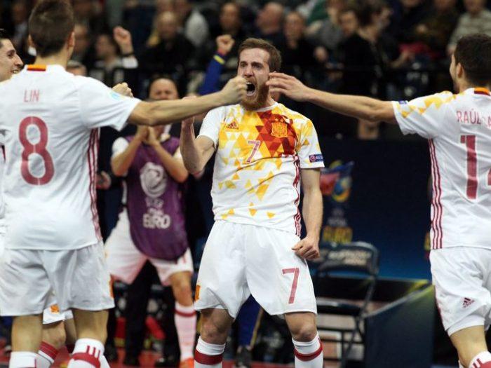 La selección española de fútbol sala, campeona de Europa en 2016