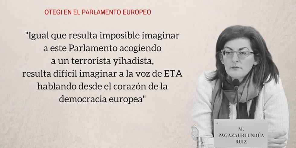 Otegi en el Parlamento Europeo